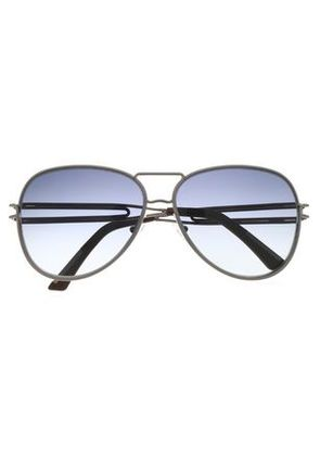 Roland Mouret Woman Aviator-style Gunmental-tone Sunglasses Silver Size -