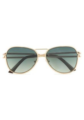 Roland Mouret Woman Aviator-style Gold-tone Sunglasses Gold Size -
