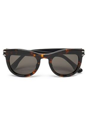 Roland Mouret Woman Cat-eye Tortoiseshell Acetate And Silver-tone Sunglasses Brown Size -