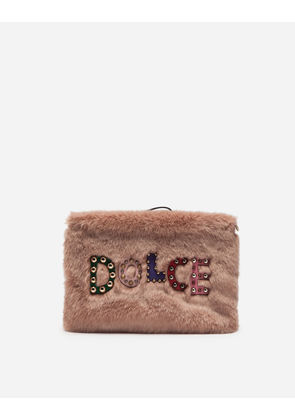 Dolce & Gabbana Mini Bags and Clutches - BAG IN FAUX FUR PINK
