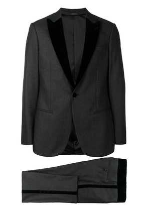 Giorgio Armani textured collar dinner suit - Black