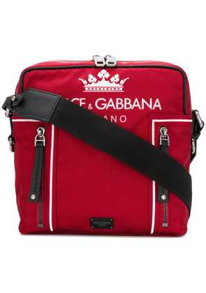Dolce & Gabbana logo shoulder bag - Red