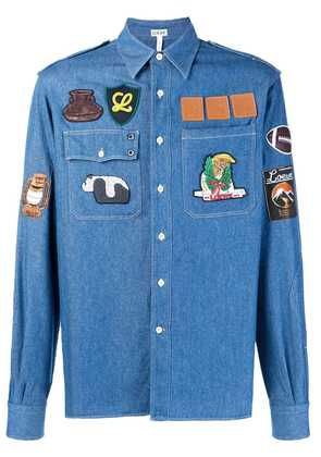 Loewe patch denim shirt - Blue