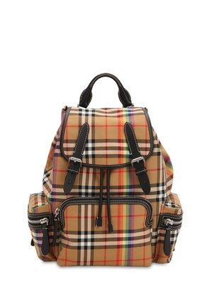 CANVAS CHECK RAINBOW MEDIUM BACKPACK