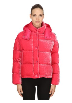 CAILLE VELOUR DOWN JACKET