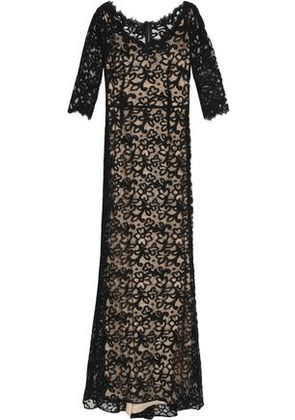 Dolce & Gabbana Woman Fluted Cotton-blend Corded Lace Gown Black Size 40
