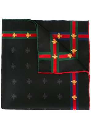 Gucci bees pattern pocket square - Black