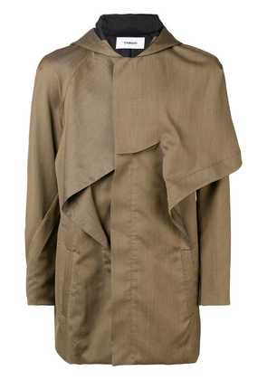 Chalayan hooded military jacket - Yellow