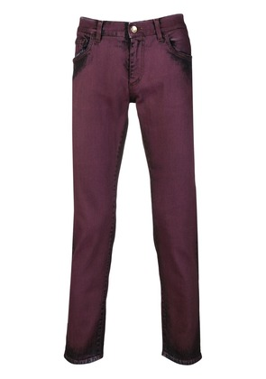 Dolce & Gabbana distressed slim fit jeans - Red