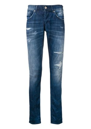 Dondup low-rise ripped jeans - Blue