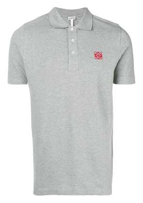 Loewe logo patch polo shirt - Grey