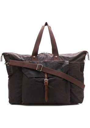Ally Capellino flap pocket holdall - Brown