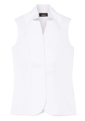 Akris - Stretch Cotton-blend Top - White