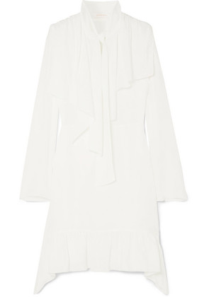 See By Chloé - Pussy-bow Crepe De Chine Dress - White