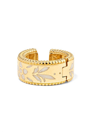 Gucci - Icon 18-karat Gold And Enamel Ear Cuff - one size