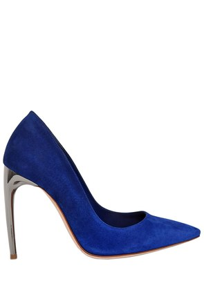 105MM MIRROR HEEL GRADIENT SUEDE PUMPS