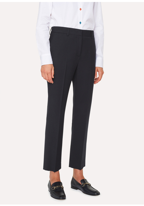 A Suit To Travel In - Women's Slim-Fit Navy Wool Trousers