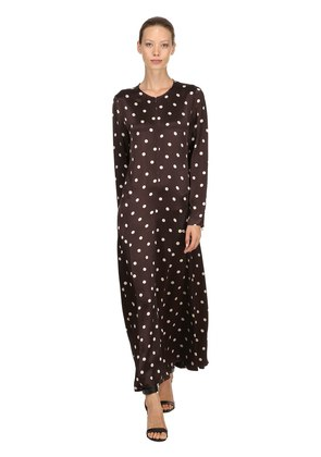 CAMERON POLKA DOTS SATIN VISCOSE DRESS