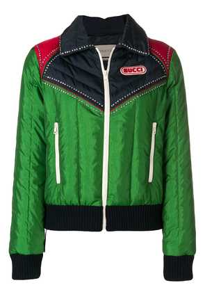 Gucci panelled jacket - Green