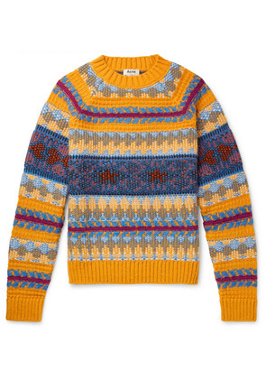 Slim-fit Fair Isle Knitted Sweater