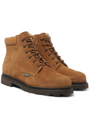 + Paraboot Bergerac Leather-trimmed Suede Boots