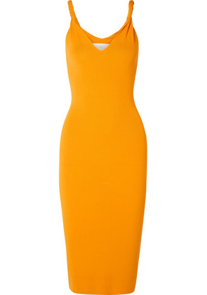Dion Lee - Twisted Knitted Midi Dress - Marigold