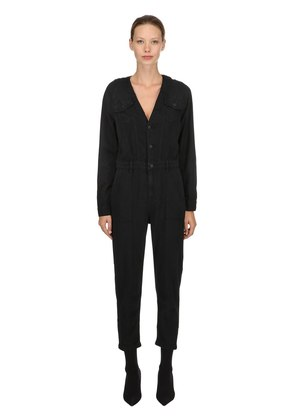 BURNING RUBBER COTTON JUMPSUIT