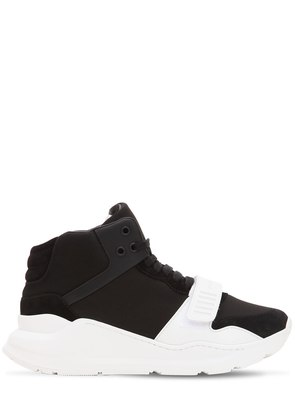 40MM HIGH TOP NEOPRENE & SUEDE SNEAKERS