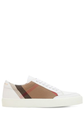 20MM CLASSIC CHECK & LEATHER SNEAKERS