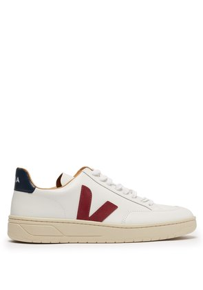 V-12 Bastille low-top leather trainers