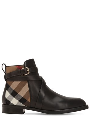 20MM CLASSIC CHECK & LEATHER BOOTS