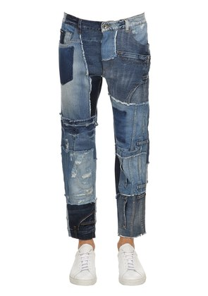 BAGGY PATCHWORK DENIM JEANS