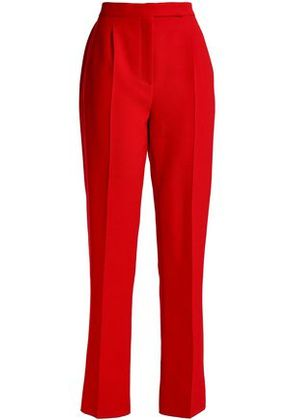 Valentino Woman Wool And Silk-blend Straight-leg Pants Red Size 4