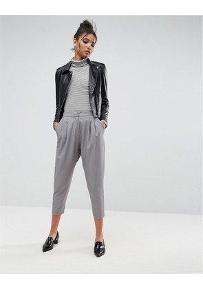 ASOS Tailored Drop Crotch Tapered Trouser - Grey