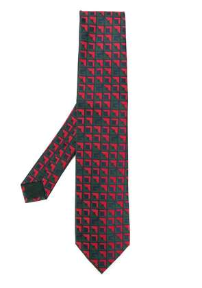 Gucci patterned tie - Red