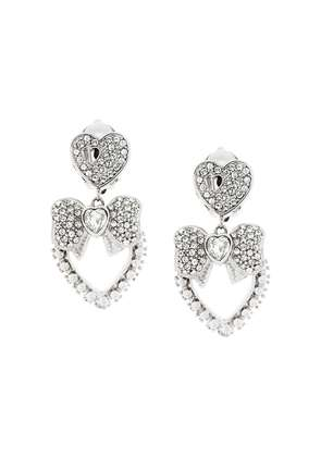 Dolce & Gabbana bow heart clip-on earrings - Metallic