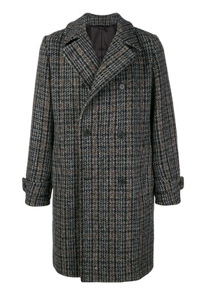 Stella McCartney double breasted checked coat - Grey