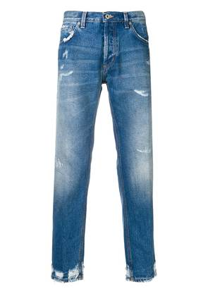 Dondup stonewashed tapered jeans - Blue