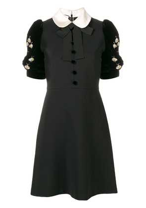 Gucci embellished short-sleeve dress - Black