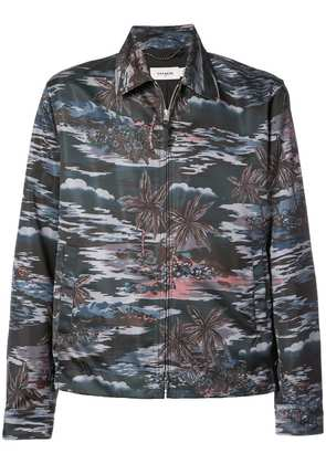 Coach Hawaiian print skater jacket - Grey