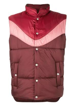 Isabel Marant Dream tri-tone gilet - Red