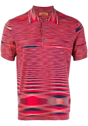 Missoni abstract patterned polo shirt - Red