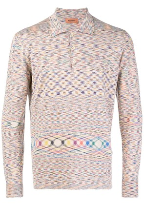Missoni abstract patterned polo top - Nude & Neutrals