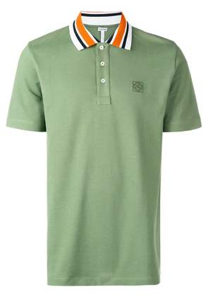 Loewe embroidered logo polo shirt - Green