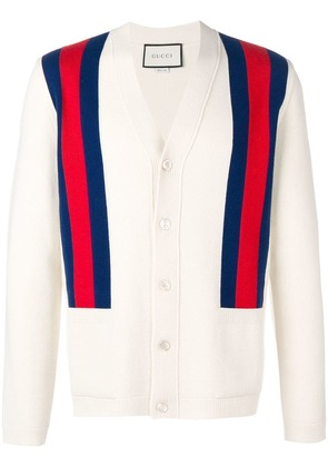 Gucci shoulder stripes cardigan - Nude & Neutrals