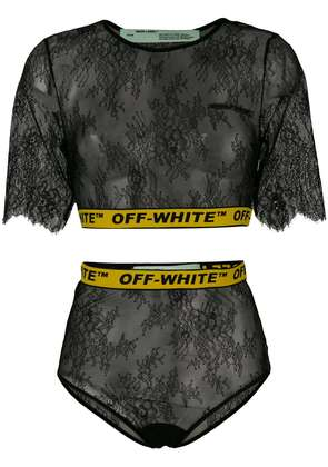 Off-White lace two-piece set - Black
