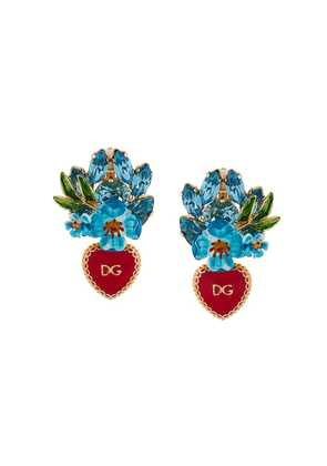 Dolce & Gabbana drop clip-on earrings - Blue
