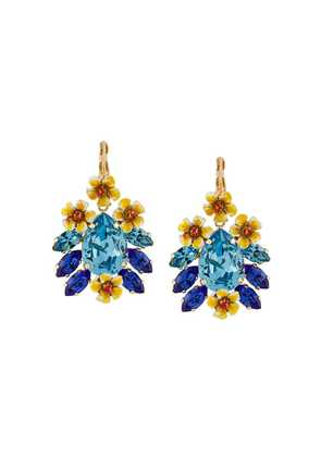 Dolce & Gabbana floral pendant earrings - Blue