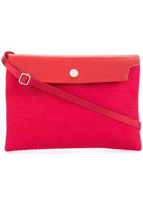 Cabas contrast flap mini bag - Red