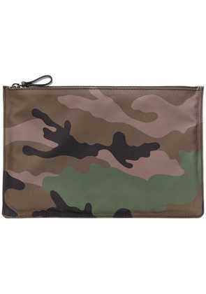 Valentino camouflage print pouch - Green